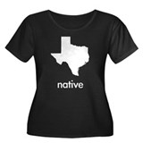 Texas Native Women's Plus Size Scoop Neck Dark T-S