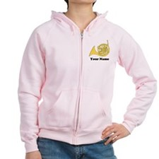 Personalized French Horn Zip Hoodie