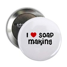 "I * Soap Making 2.25"" Button (10 pack)"