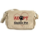 Adopt a Shelter Pet Messenger Bag