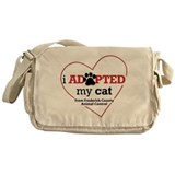 I Adopted My Cat... Messenger Bag
