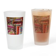 Cute Patchwork quilt Drinking Glass