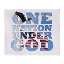 Cute Pledge of allegiance Throw Blanket