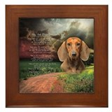 &quot;Why God Made Dogs&quot; Dachshund Framed Tile