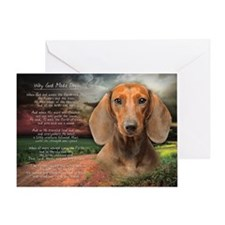 """Why God Made Dogs"" Dachshund Greeting Card"