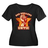Bad Spellers Untie Women's Plus Size Scoop Neck Da