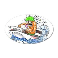Whaler - Rat Fink Style 22x14 Oval Wall Peel