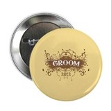 "2012 Grunge Groom 2.25"" Button"