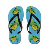 Sea Turtles Flip Flops