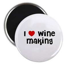 "I * Wine Making 2.25"" Magnet (10 pack)"