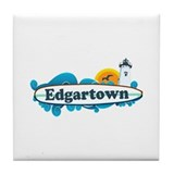 Edgartown MA - Surf Design. Tile Coaster