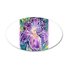 Iris! Purple flower, art! 20x12 Oval Wall Decal