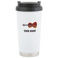 Personalized Violin Ceramic Travel Mug