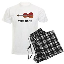 Personalized Violin Men's Light Pajamas