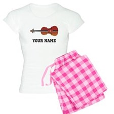 Personalized Violin Women's Light Pajamas