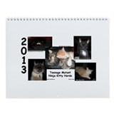 Teenage Mutant Ninja Kitty Horde Wall Calendar
