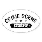 Crime Scene Unit Sticker (Oval)