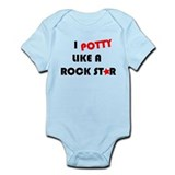 Potty like Rock Star Infant Bodysuit