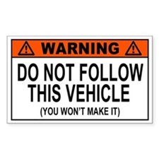 Funny 4X4 Decal