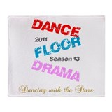 Dance Floor Drama Throw Blanket