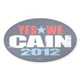 Yes We Cain Decal