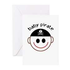 Pirate Baby Captain Greeting Cards (Pk of 10)