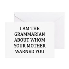 I Grammarian Greeting Card