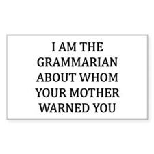 I Grammarian Decal