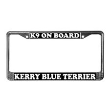 K9 On Board Kerry Blue Terrier License Plate Frame