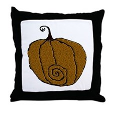 Fuzzy Pumpkin Throw Pillow