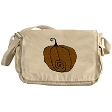 Fuzzy Pumpkin Messenger Bag