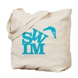Cute Swimming Tote Bag
