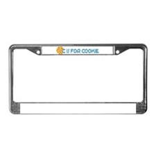C is for Cookie License Plate Frame