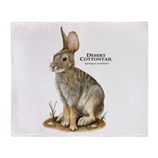 Desert Cottontail Throw Blanket
