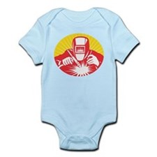 welder welding worker Infant Bodysuit