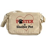 Foster a Shelter Pet Messenger Bag