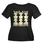 Six Napoleons Women's Plus Size Scoop Neck Dark T-