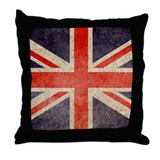 UK Faded Throw Pillow