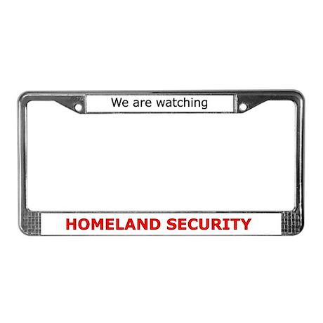 Homeland Security License Plate Frame