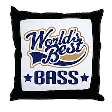 Bass (World's Best) Throw Pillow