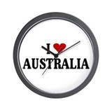 I Love Australia Wall Clock