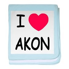 I heart Akon baby blanket