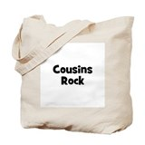 Cousins Rock Tote Bag