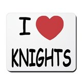 I heart knights Mousepad