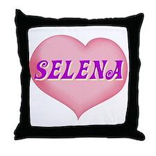selena heart Throw Pillow