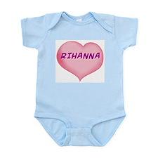 rihanna heart Infant Bodysuit
