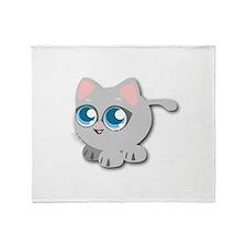 Anime Kitty Throw Blanket