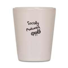 Socially Awkward Shot Glass