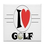 I Love Golf Tile Coaster