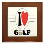 I Love Golf Framed Tile